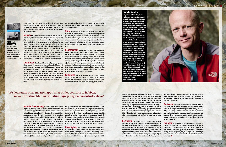 Seasons magazine interview bergbeklimmer en spreker Melvin Redeker