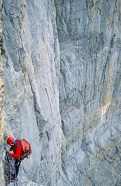 Tijdens onze klimtocht op de ScheideggWetterhorn, vlak voor het noodweer uitbrak © Melvin Redeker