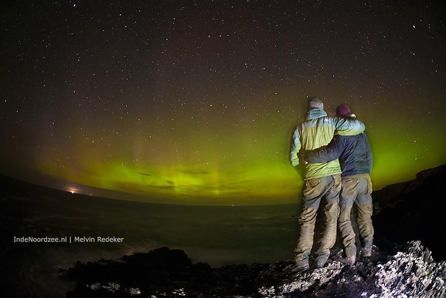 Genieten van het Noordzee noorderlicht