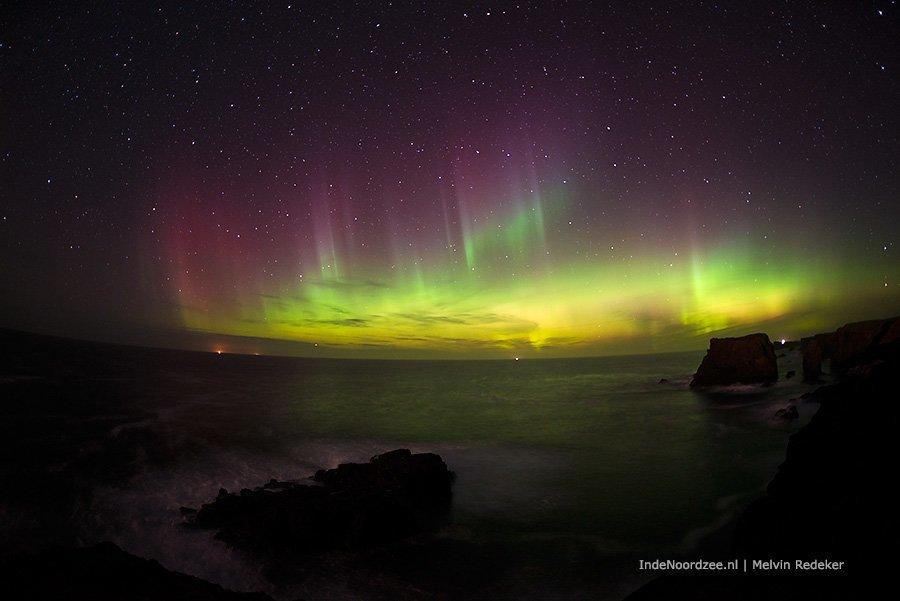 Spectaculair Noordzee noorderlicht