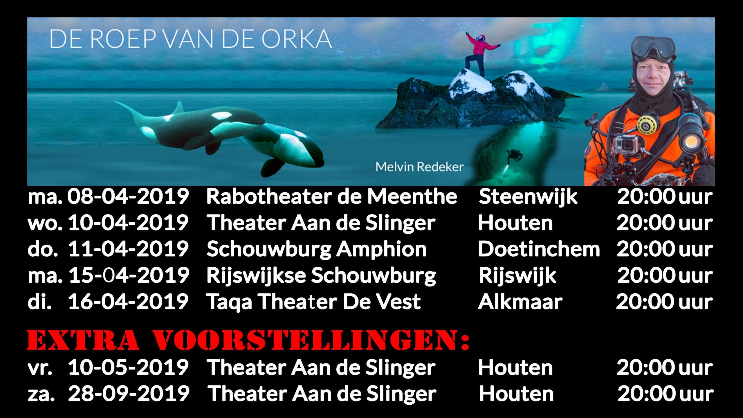 Theatershow 10 mei uitverkocht