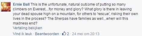 Reactie Mount Everest fb