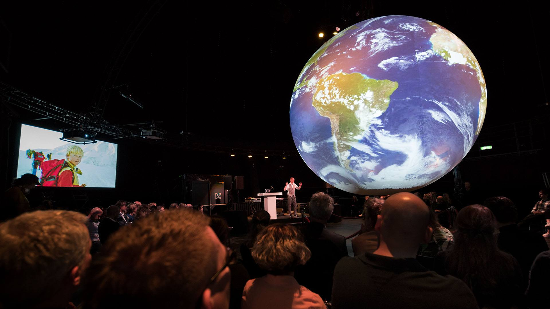 Melvin als spreker bij Climate Planet